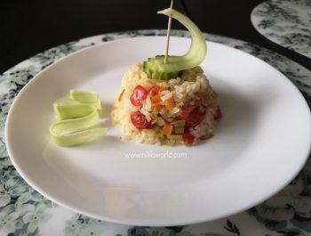 Ориз с чушки и чери домати